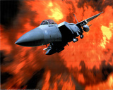 F-15A Eagle fighter plane w/ Flames Art Print POSTER Prints