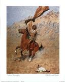 Remington Speaking Skull Indian Art Print Poster Poster
