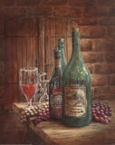 Vintage Wine Chablis Art Print Poster Posters