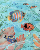 Diana Martin - Striped Fish, Art Poster print Posters