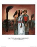 Gonzalo Cienfuegos (Las Tres Gracias en Rosado) Art Poster Print Print