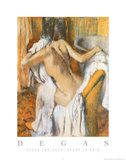 Edgar Degas (After Bath) Art Print Poster Pôsters