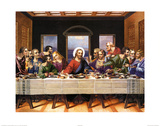 Leonardo Da Vinci (Last Supper) Art Poster Print Foto