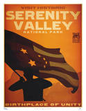 Serenity Movie Blue Sun Visit Historic Serenity Valley National Park Travel Poster Print Posters