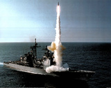M F Winter USS Cowpens (CG-63) Launches SM-2 Art Print Poster Photo