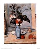 Paul Cezanne Le Vase Bleu Flower Art Print POSTER Blue Posters
