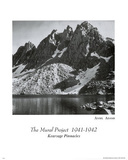 Kearsage Pinnacles Ansel Adams Art Print Poster Poster