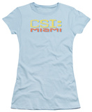 Juniors: CSI Miami -Miami Distressed Logo T-shirts