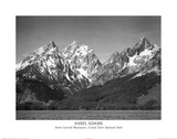 Ansel Adams Snow On Mountains Teton Art Print Poster Prints