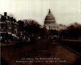 US Capital Washington DC turn of century photo POSTER Prints