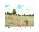 Claude Monet (Poppy Field) Art Print Poster Posters