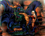 Dan McManis (Dragon & Girl) Art Print Poster Poster