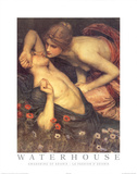 John William Waterhouse Awakening of Adonis Art Print Poster Posters