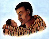 African Tribal Father Art Print POSTER Black History Print