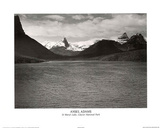 Ansel Adams St. Mary's Lake Glacier National Park Print Poster Plakát