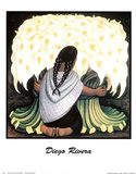Diego Rivera The Flower Seller Art Print Poster Posters