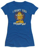 Juniors: Garfield - I Want You T-shirts