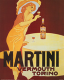 Martini Vermouth Torino Vintage Ad Art Print Poster Stampe