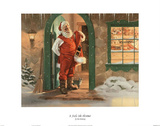 Tom Browning It Feels Like Christmas Art Print Poster Photo