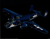 B-25 Mitchell (In Air) Art Poster Print Prints