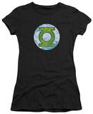 Juniors: Green Lantern - GL Neon Distress Logo T-shirts