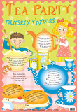 Laminated Tea Party Nursery Rhymes Educational Chart Poster Print Plakat