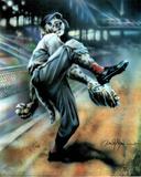 Dan McManis Dog Playing Baseball Art Print POSTER Poster