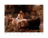 John William Waterhouse Lady of Shalott Art Print Poster Print