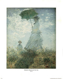 Claude Monet Madame Monet and Her Son Art Print POSTER Photo