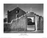 Ansel Adams Taos Pueblo Church New Mexico Photo Art Print Poster Prints