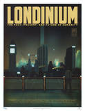 Serenity Movie Blue Sun Londinium Travel Poster Print Poster