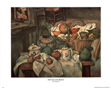 Paul Cezanne Still Life Basket Art Print POSTER pears Posters