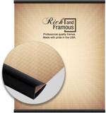 Varetas de resina para pendurar pôster na cor preta fosca com 91 cm Fotografia