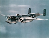 B-25 Mitchell (In Sky) Art Poster Print Poster