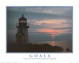 Goals Motivational Lighthouse Art Print POSTER quality Reprodukcje