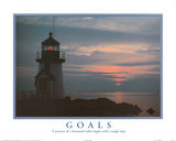 Goals Motivational Lighthouse Art Print POSTER quality Prints