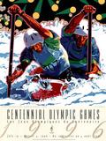 Hiro Yamagata Olympic Canoe/Kayak Slalom 1996 Atlanta Official Sports Poster Print Poster