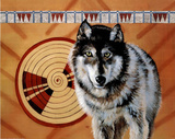 Wolf Spirit (Native American) Art Print Poster Posters