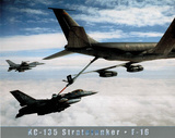 US Army KC-135 Stratotanker Art Print POSTER USA F-16 Prints