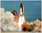 NASA Space Shuttle Blasting Off Early Morning Art Print Poster Posters