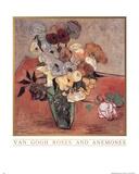 (Roses and Anemones) Vincent Van Gogh Art Print Poster Posters