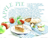 Recipe (Apple Pie) Art Print Poster Poster