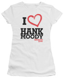 Juniors: Californication - I Heart Hank Moody T-shirts