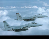 F-15 Jets (In Sky) Art Poster Print Posters