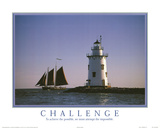 Challenge Motivational Lighthouse Art Print POSTER Posters