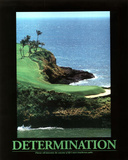 Determination (Golf) Art Poster Print Posters