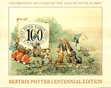 Celebrating 100 Years (The Tale Peter of Rabbit) Art Print Poster Posters