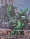 The Incredible Hulk Breaking through Building 3-D Lenticular Poster Print Print