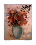 Odilon Redon Le Vase Turquoise Art Print Poster Prints