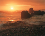 Willard Clay (Sunset at Cresent Beach, Ecola State Park, OR) Art Poster Print Photo